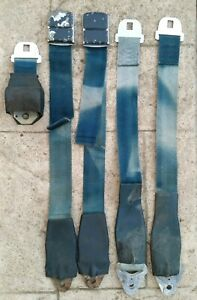 1962 1963 1964 1965 Ford Fairlane Galaxie Seat Belt Set Blue