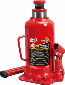 Torin Big Red Hydraulic Bottle Jack Capacity 20 Ton Designed For Residential