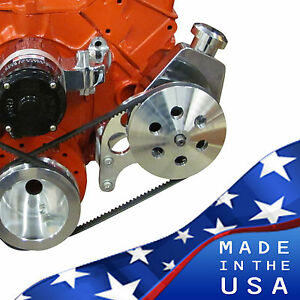 Sbc Electric Or Long Water Pump Saginaw Power Steering Bracket Chevy Small Block