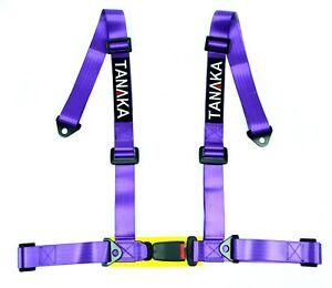 Tanaka 4 Point Buckle Sports Harness Seat Belt Purple