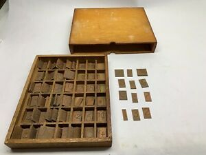 Engraving Brass Font Letters Numbers Upper Lower Case Box 224 Piece Lot 101379