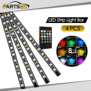 48led Rgb Decorative Led Strip Light Bar Motorcycle Car Under Dash Light Kit
