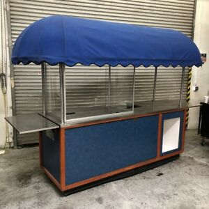 Food Cart Vendor Kiosk Stand Concession Vending Portable Carriage Works 1606