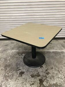 36 X 36 Dining Dinner Table On Stand Heavy Duty Base 1608 Commercial Restaurant