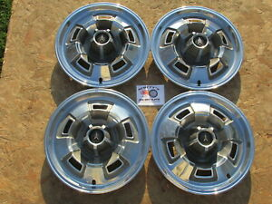 1967 69 Plymouth Barracuda Satellite Valiant 14 Wheel Covers Hubcaps Set 4