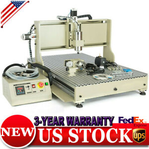 Cnc 6090 Router 4 Axis 1500w Vfd Usb Engraver Drill Mill Machine Metal Carve