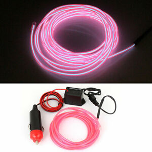 3 Meter El Wire Vehicle Van Truck Neon Pink Glow Light W 1m Car Charger