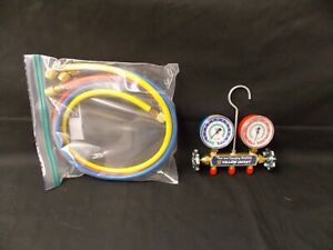 Yellow Jacket Series 41 Test Charging Manifold Gauges 2 1 2 R502 R22 R12 Nso