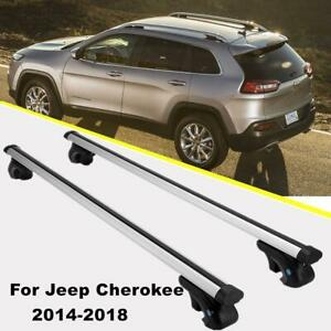 Top Roof Rack Cross Bar Cargo Carrier W Anti theft Lock System For Jeep Cherokee
