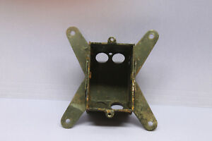 Vintage 1900s Steel Metal Electrical Switch Outlet Wall Box Steampunk Rare