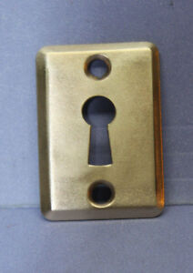 New Antique Vintage Solid Brass Keyhole Escutcheon Cover Plate W Screws