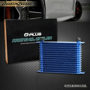Gplus 15 Row Powder Coated Aluminum Engine Transmission Racing 10 An Oil Cooler