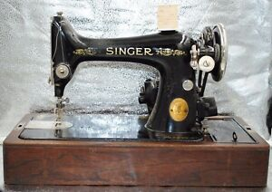 Antique Old Vintage 1926 99k Singer Sewing Machine Beautiful With Case