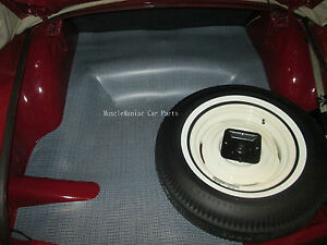 1956 1964 Studebaker Hawk Coupe Rubber Trunk Mat Houndstooth 56 57 58 56 57 58