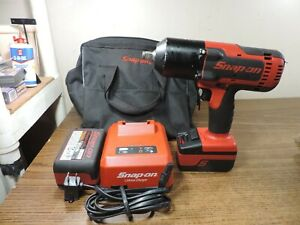 Snap On 18v Lithium Cordless 1 2 Impact Wrench Ct8850 W 2 Batteries