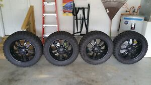 Toyo Open Country M T Tires And 22 Inch Kmc Km 673 Skitch Satin Black Wheels