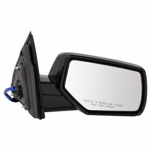 Mirror Power Heated Smooth Black Performance Cap Passenger Right Rh For Gm Suv