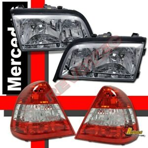 94 00 Mercedes Benz W202 C220 C230 C280 Chrome Headlights Tail Lights Combo