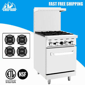 Etl Commercial Kitchen 24 Gas Range With Oven C ro4