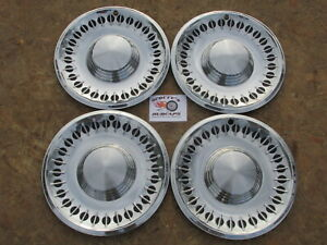 1961 Plymouth Fury Belvedere Suburban 14 Wheel Covers Hubcaps Set Of 4