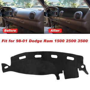 Dashmat Dash Cover Dashboard Mat Carpet For Dodge Ram 1500 2500 3500 98 01 Black
