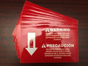 Class k Kitchen Fire Extinguisher Signs 7 Pieces 8 X 12 3m Adhesive Back