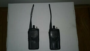 Lot Of 2 Kenwood Tk 3160 Uhf Fm Transceiver Radios With Batteries Both Power On