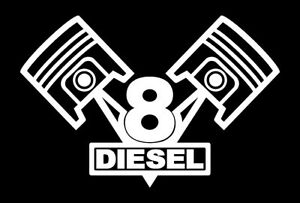 2 V8 Diesel Engine Piston Decals 6 0 6 2 6 5 7 3 Etc Sticker Emblems Badges