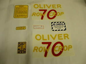 Oliver 70 Row Crop Tractor Decal Set Free Shipping New Free Shipping