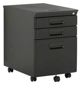 Office Rolling File Cabinet With Drawers In Black id 3842046