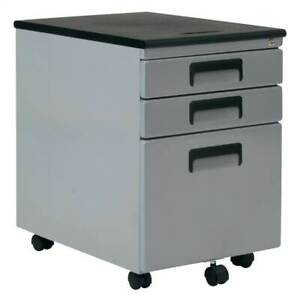 Office Rolling File Cabinet With Drawers In Silver id 3842047
