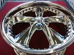 Foose Discountinued Nitro Nistros 20x8 5 Chrome Used 5x4 5 Mustang Front 34