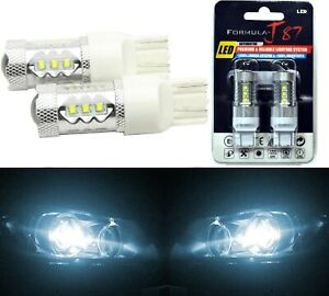 Led Light 80w 7444 White 6000k Two Bulbs Front Turn Signal Replace Upgrade Lamp