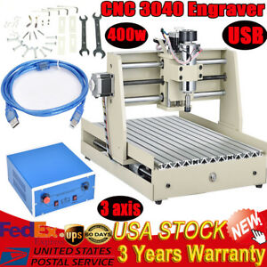 3 Axis Cnc 3040 Router Engraver 400w Usb Woodworking Engraving Milling Machine