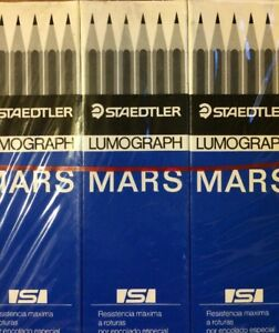 Staedtler Lumograph Mars 4h Pencils Lot Of 15 Boxes 180 Pencils New In Boxes