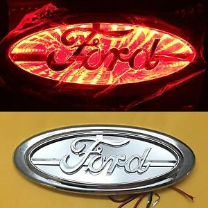 3d Led Car Tail Logo Light Red Auto Rear Emblem Lamp For Ford Focus Mondeo Kuga