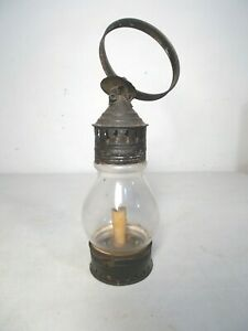 Mid 1800s Glass And Tin Candle Lantern