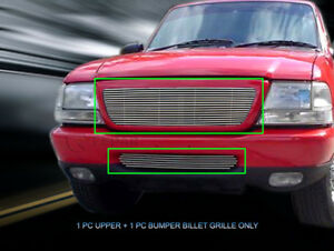 98 00 Ford Ranger Billet Grille Grill Combo Replacement Fedar