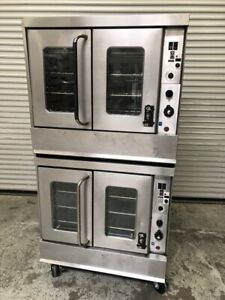Double Stack Gas Convection Oven Bakery Montague 115a 1805 Commercial Full Size