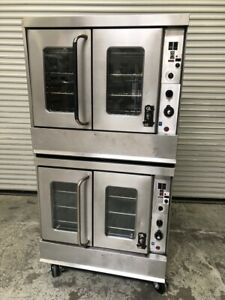 Double Stack Gas Convection Oven Bakery Montague 115a 1805 Commercial Bake