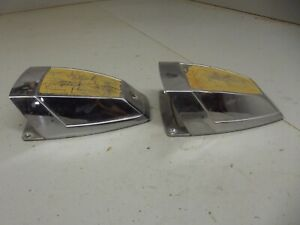 Vintage Chrome Air Scoops Hotrod Accessory Flathead 1934 1930 Carburetor
