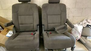 2015 2016 2017 Honda Odyssey Second Row Bucket Seats Truffle Cloth Pair