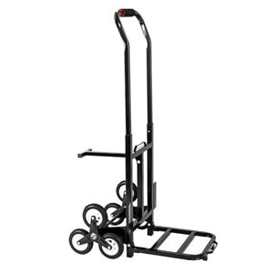 330lbs 6 Wheels Stair Climbing Cart Low Noises Portable Electrostatic Spray
