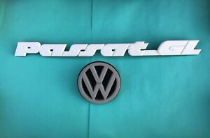 Vw Volkswagen Passatgl Emblem Set Logo Nameplate Plastic Badge Rear 357853687b