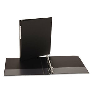 6 pack 1 Round 3 ring Binder Black School Office Inch Home Avery 175 Sheet