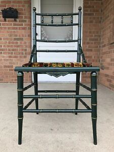 Vintage Solid Wood Chinese Chippendale Chinoiserie Side Chair Verygood Condition