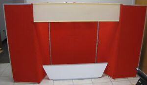 Downing Displays Red goldenrod 6 Panel 360 Table Top Display