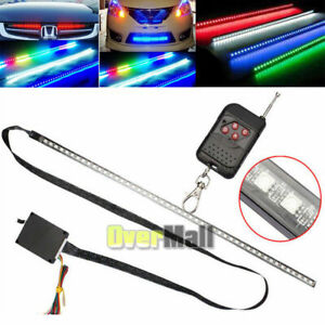 22 7 Color Rgb Led Knight Rider Strip Light For Under Hood Behind Grille