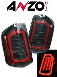 Black Sequential Led Tail Lights For 2011 2014 Chrysler 300 1 Pair