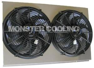 Kingswood Aluminum Radiator Fan Shroud 2 14 Electric Fans 17 X 28 1 4 161